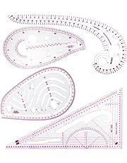 SINBLUE - Regla métrica de 4 estilos para coser curva francesa - Medida de plástico a