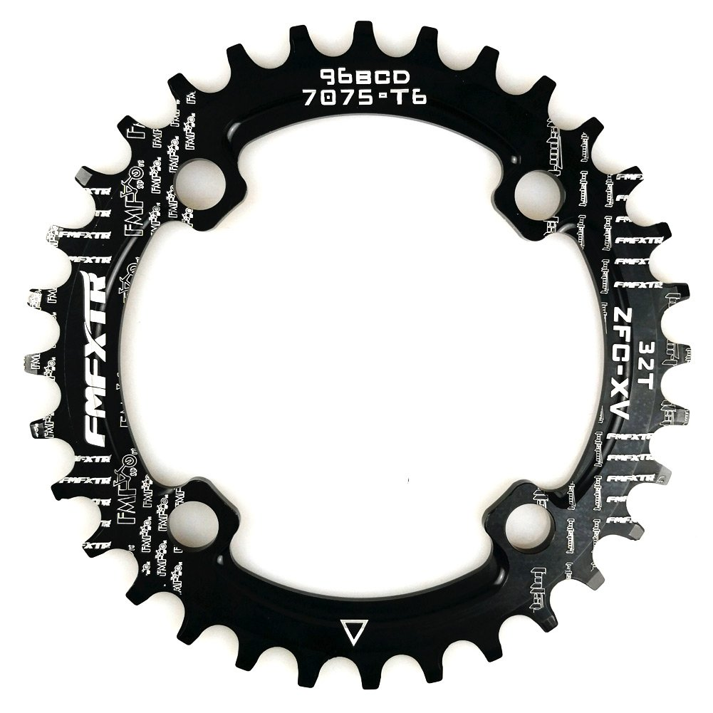 FOMTOR 32T Chainring 96 BCD Single Narrow Wide Chainring Fit for XTR,XT,SLX Series Crank