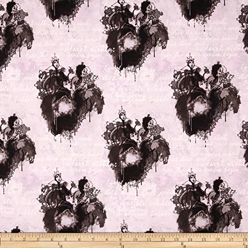Disney Villains Spell Casting Grey Fabric by The Yard]()