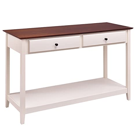 Terrific Giantex Console Sofa Table Wood Entryway Living Room Accent Stand W Drawer And Shelf White Coffee Spiritservingveterans Wood Chair Design Ideas Spiritservingveteransorg