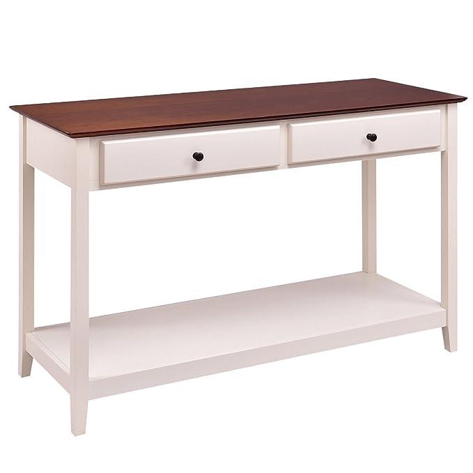 Amazon.com: giantex Consola sofá mesa madera Entryway salón ...