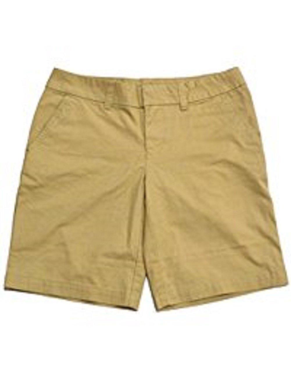 Tommy Hilfiger Womens Solid Hollywood Bermuda Shorts (12, Travel Khaki)