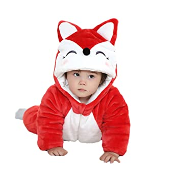 3e362b127 Cute Unisex Baby s Winter Flannel Pajamas Suit Cosplay Costume ...