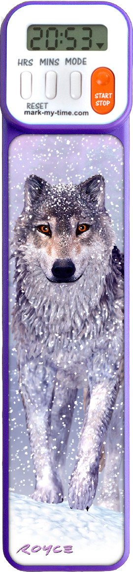 Mark-My-Time 3D Wolf Digital Bookmark and Reading Timer