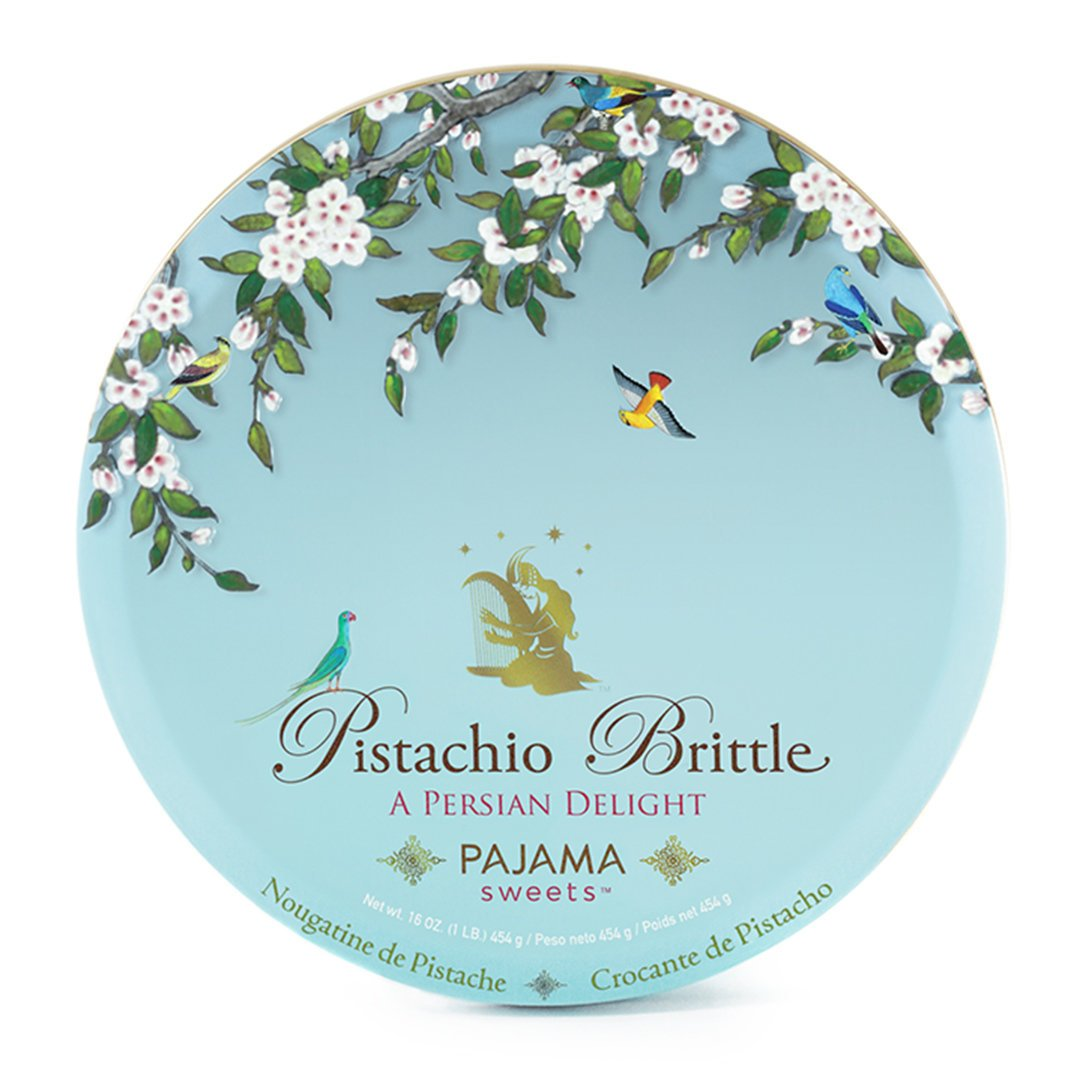 Pistachio Brittle: A Persian Delight, one pound by Pajama Sweets