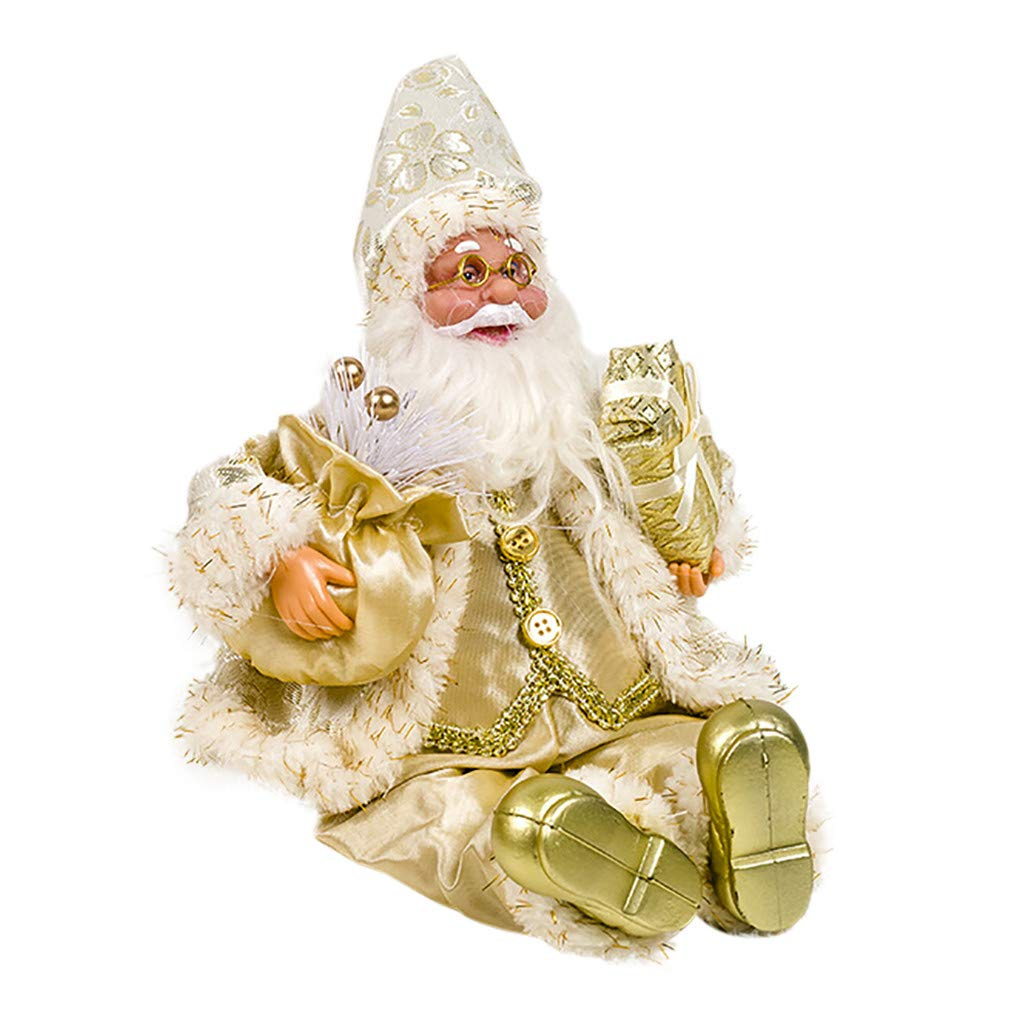 1KTon Christmas Santa Claus Doll Christmas Child Gift Toy Table Decoration For Home by 1KTon