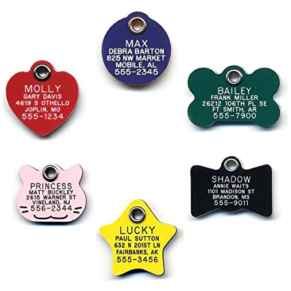 49c5cd6780a2 LuckyPet Durable Plastic Pet ID Tag - Outlasts Aluminum Tags for The Same  Price - Custom