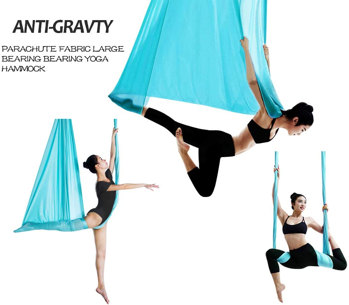 Amazon.com: Hamaca de yoga aérea de 16.4 ft de largo x 9.2 ...