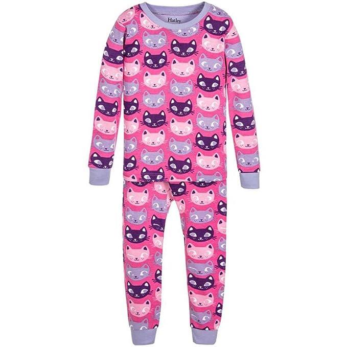 Hatley DR5CACA, Pijama de una pieza. Algodón Orgánico. Color 213-Rosa,