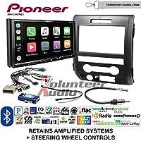 Volunteer Audio Pioneer AVH-2440NEX Double Din Radio Install Kit with Apple CarPlay, Android Auto and Bluetooth Fits 2009-2014 F-150