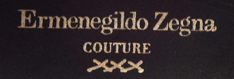 Ermenegildo Zegna Couture fatte a mano a mano slip on EE scarpe in pelle  nera 9e831248de0