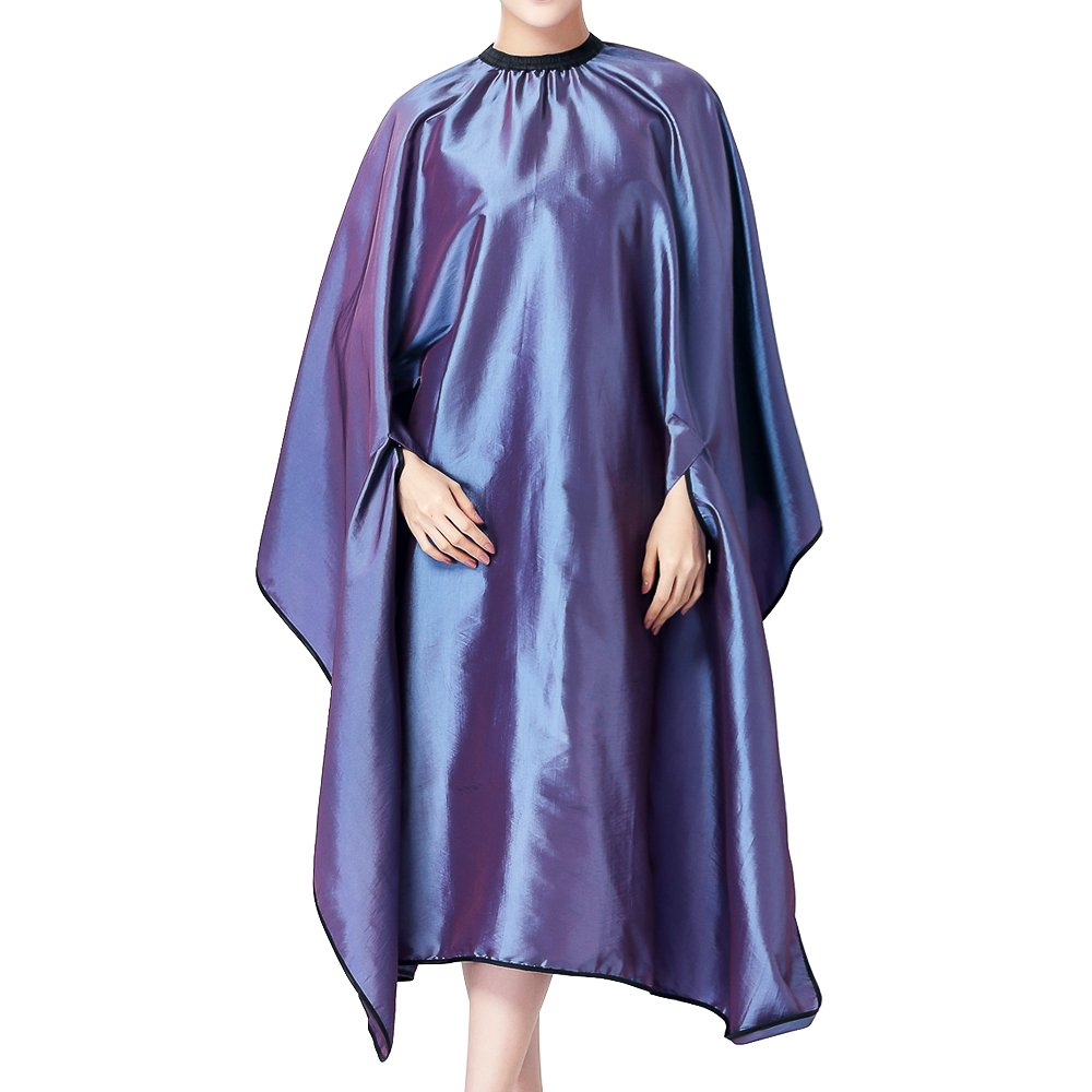 Ecvision hairdresser apron Hair cutting cape Salon Home Barbers Hairdressing Cape Gown with Hands Out Design (Grey)