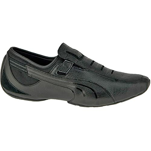 62f02bd70af1 Puma Men s Vedano 5 Black Leather Boat Shoes - 7 UK India (40.5 EU ...