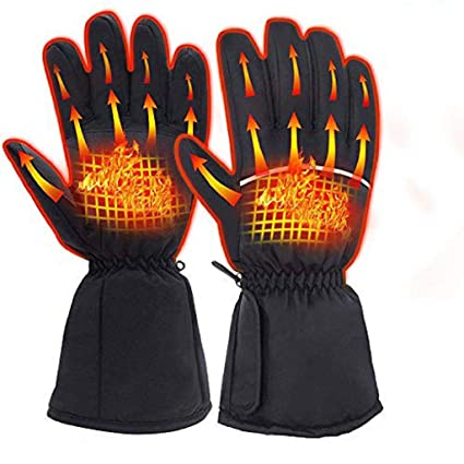 Rechargeable Electric Warm Heated Gloves Motorcycle Bike Hunting Winter Warmer