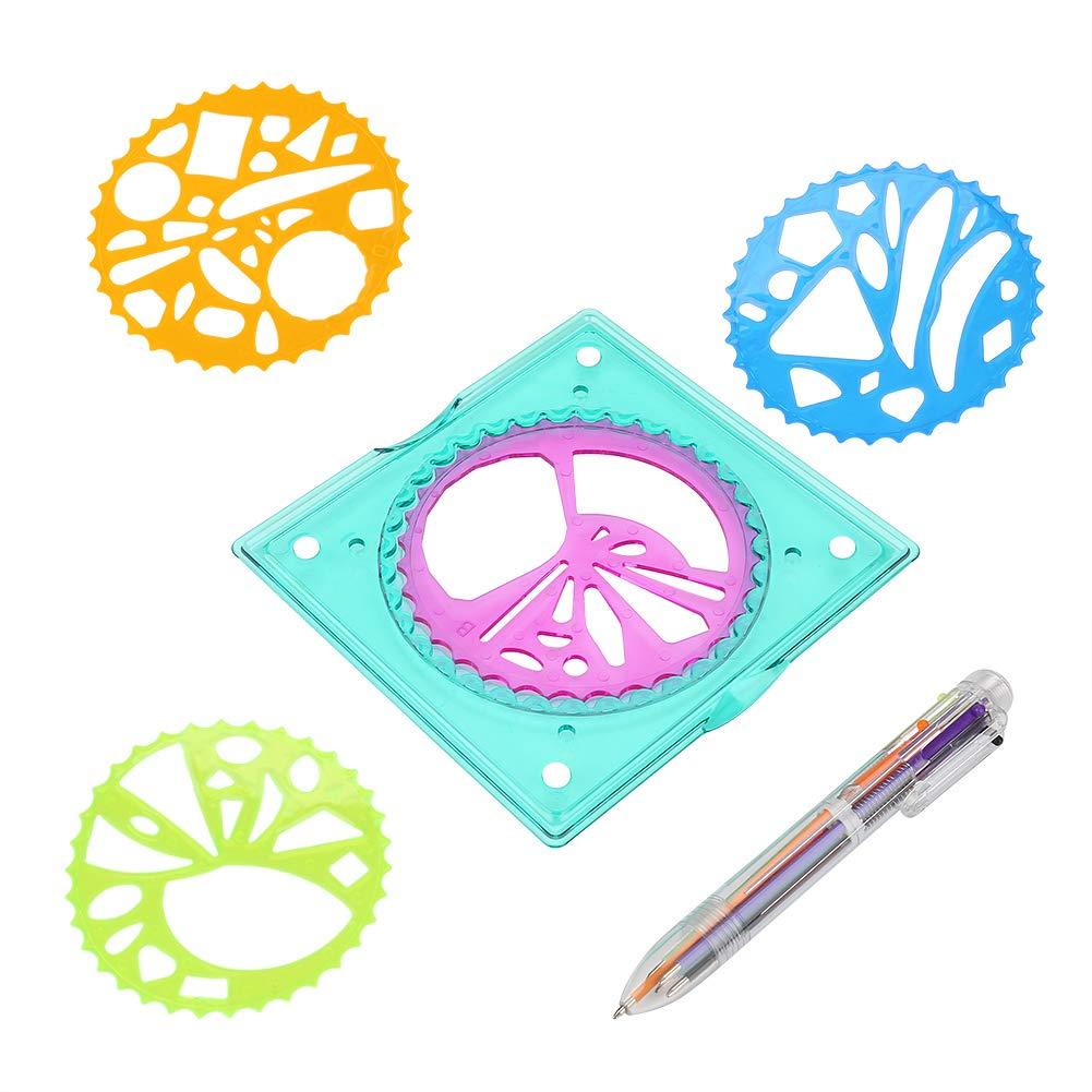 Furnoor Righello Geometrico Modello di Plastica per Bambini Strumento di Disegno A Spirale Art Toy Forniture per Cancelleria per Bambini