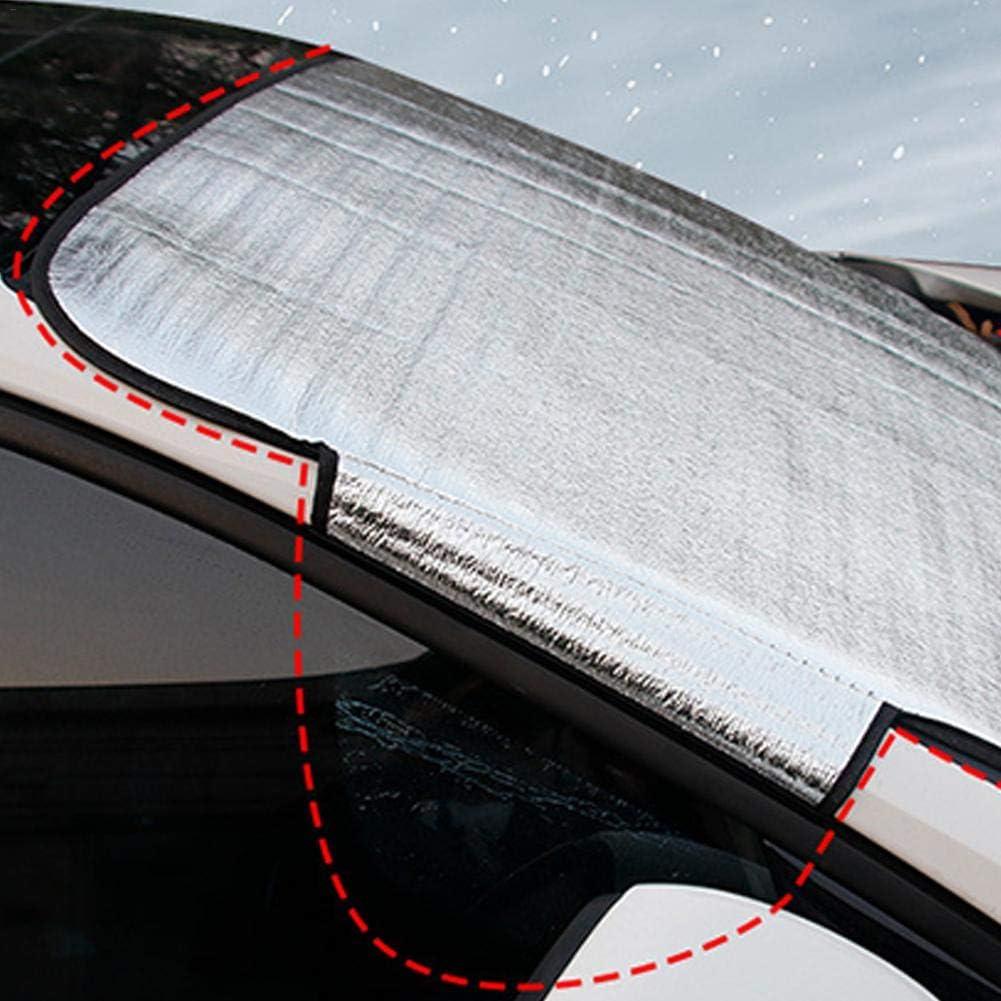 haodene Frontscheibenabdeckung Schneeschutz Auto Windschutzscheibe Abdeckung Frostabdeckung Verdickung Faltbare Anti UV Sonnenschutz Frostschutz Eisschutz Windschutz Cover