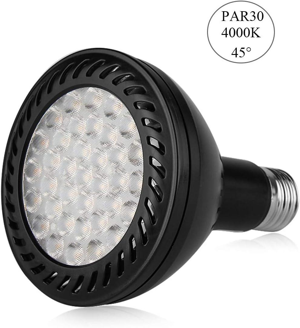 2//4//10Pack 36Watt PAR30 LED Flood Light Bulb 36W E27//E26 Medium Base Indoor Lamp