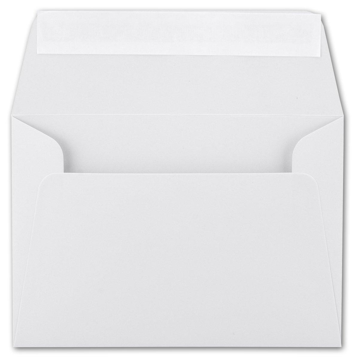 200x Brief-Umschläge B6 - Naturweiss - - - 12,5 x 17,5 cm - Haftklebung 120 g m² - breite edle Verschluss-Lasche - hochwertige Einladungs-Umschläge B078HLGGT8 | Preiszugeständnisse  ea76eb