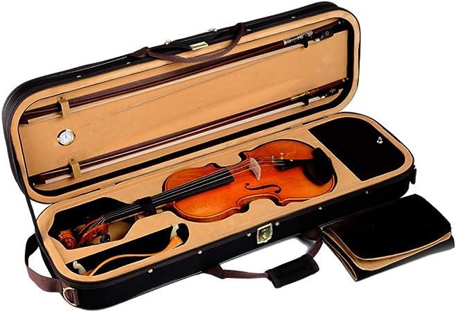 YUSDP Estuche Profesional para violín 4/4 de tamaño Completo, con higrómetro - Forma Oblonga Ligero, Resistente a la presión Resistente al Agua para violines acústicos de tamaño Completo, 90x25cm: Amazon.es: Hogar
