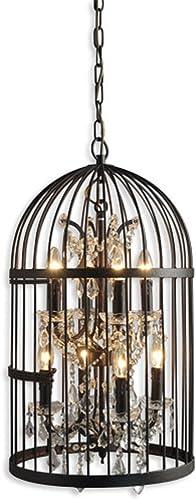 AA Warehousing LZ2079-4-4RR Hunter 8-Light Rustic Black Cage Chandelier