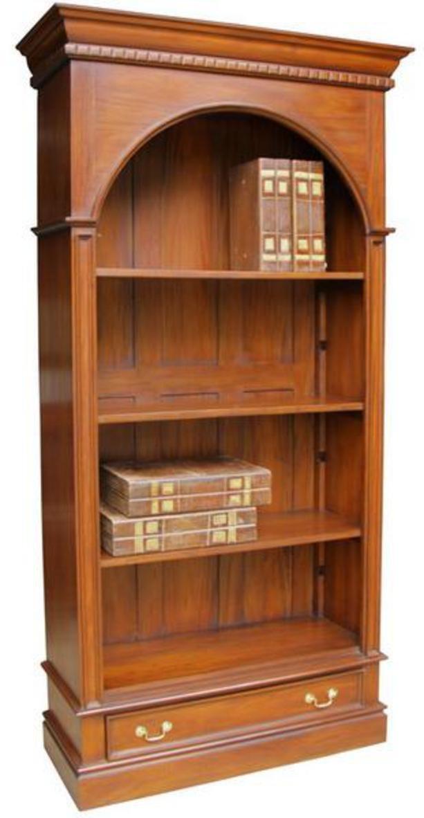 Arch Bücherregal aus massivem Mahagoni