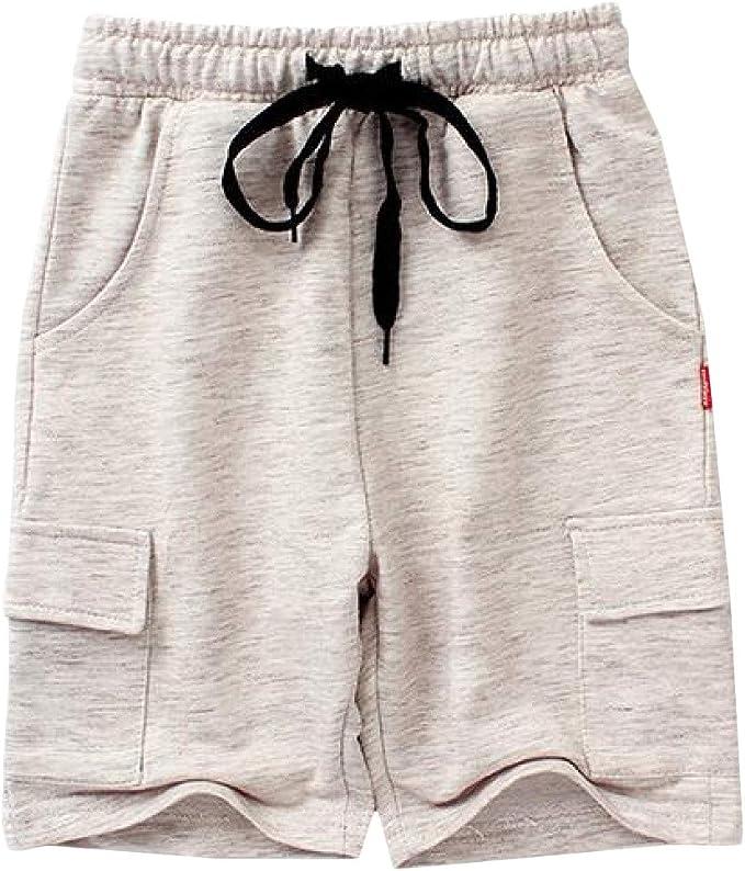 GLORYA Boys Cotton Summer Sport Stretch Cute Shorts