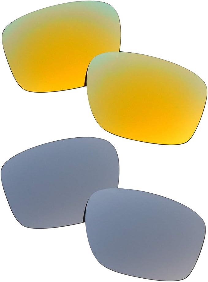 SOODASE Para Oakley Sliver Gafas de sol Dorado/Plata 2 Pares ...