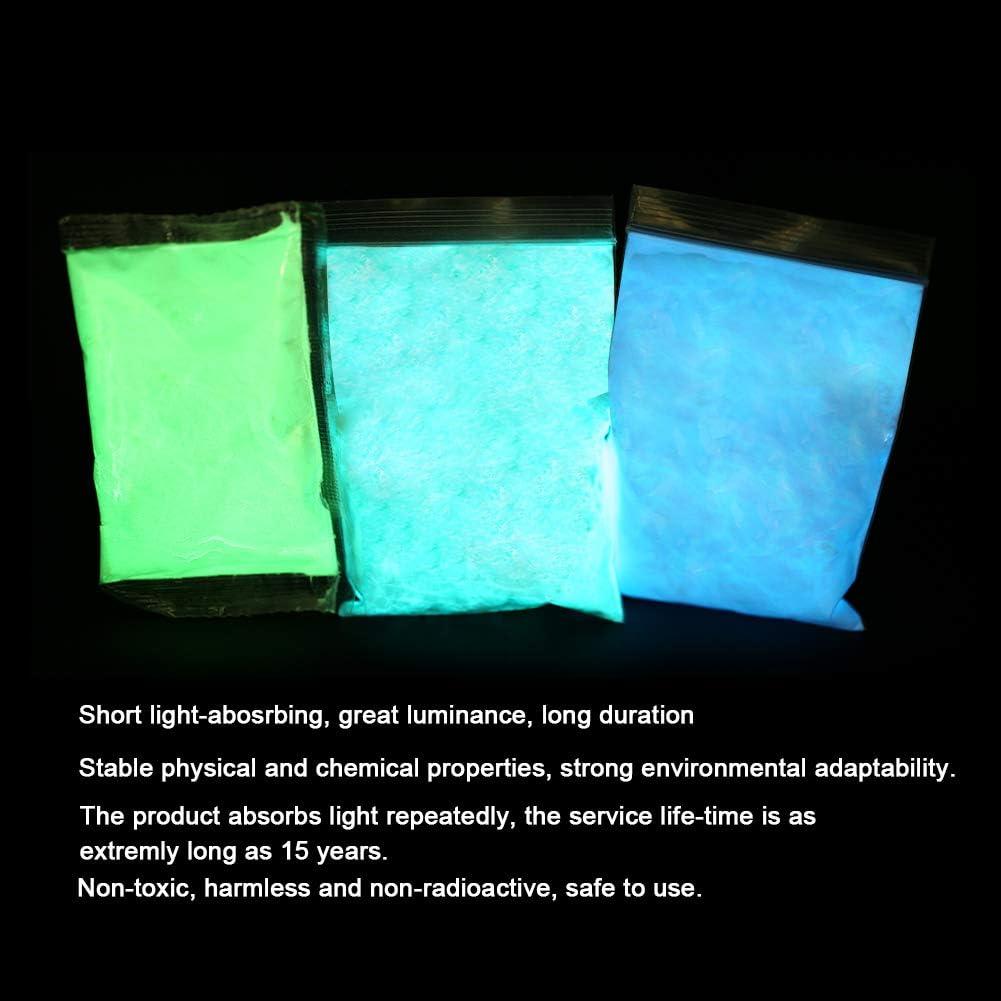 Brrnoo Polvo Fluorescente de Tinte de 3 Colores Pintura de Polvo Luminoso de Resina ep/óxica Pigmento DIY Recubrimiento de u/ñas Polvo noctilucente Pintura de Resplandor en la Oscuridad 01