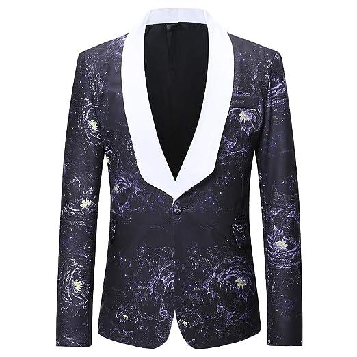 Moonuy Blazer Manteau Veste Décontracté avec Un Bouton Costume Hommes Homme  Rétro Blazer Queue de Pie 09f30a0d7d7