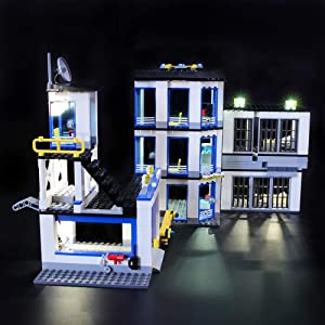 LIGHTAILING Light Set for (City Police Station) Building Blocks Model - Led Light kit Compatible with Lego 60141(NOT Included The Model)