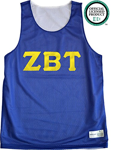ZETA BETA TAU Unisex Mesh ZBT Tank Top. Gold Sewn Letters, Various Colors