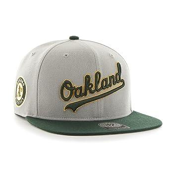 c14f9351b69d93 '47 Brand Oakland Athletics Script Sure Shot Snapback NHL Hat:  Amazon.co.uk: Sports & Outdoors