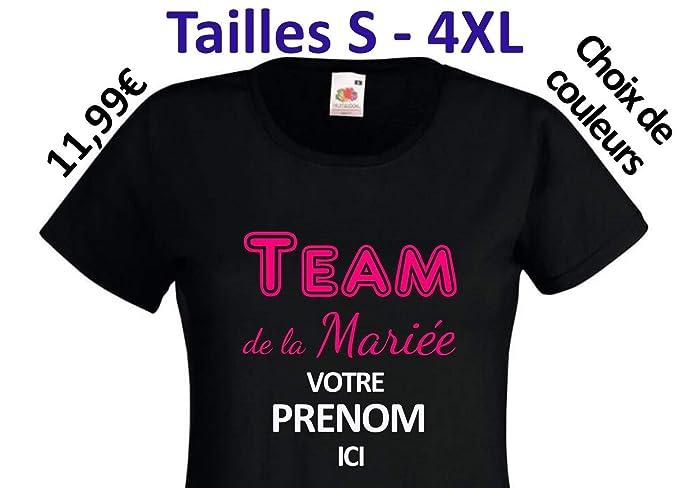 6fbaecd2cb492 T-shirt EVJF quot Team de la Mariée quot  à personnaliser (choix de couleurs