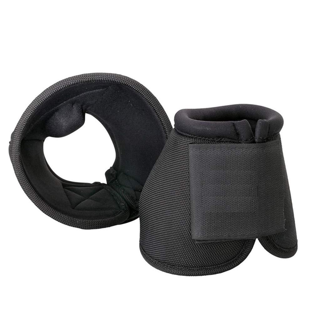Hoof Boot for Horses,Regular Sole Hoof Boot,Slim Sole Hoof Boot,Equine Quick Wrap Hoof Bell Boot,Wrap Pastern,1 Pair