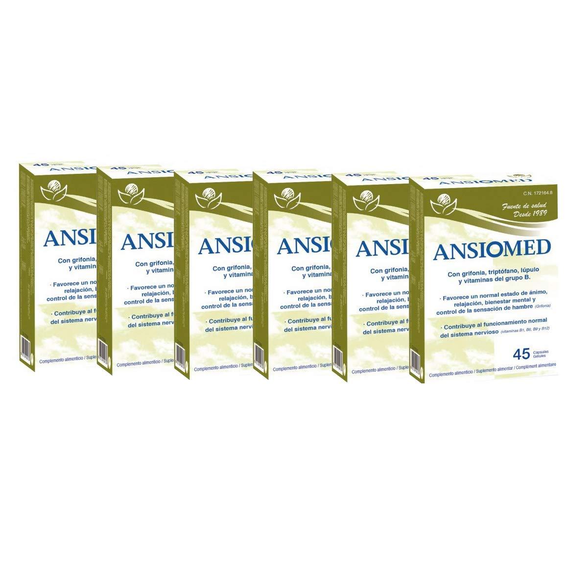 ANSIOMED - BIOSERUM - 6 UNIDADES (270 CÁPS) - ANSIOMED 45 CÁPSULAS - BIOSERUM (6): Amazon.es: Salud y cuidado personal
