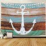 BLEUM CADE Tapestry Anchor Tapestry Wall Hanging Vintage Nautical Tapestry Hippie Tapestry Bohemian Psychedelic Wall Tapestry Bedding Tapestry