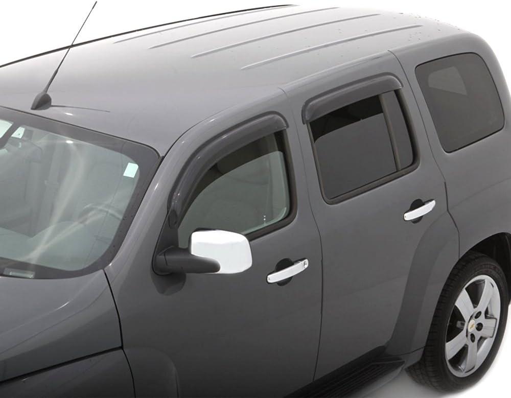 For Chevrolet HHR 06-11 Dark Grey In-Channel Window Visor Sun Guard 4pcs