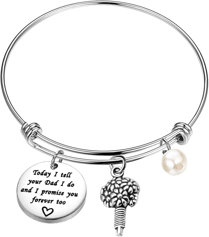 MYOSPARK Mother Daughter Bracelet Where You Lead I Will Follow Hand Stamped Bracelet
