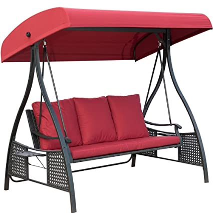 Amazon Com Patiopost Outdoor Swing Chair Seats 3 Porch Patio
