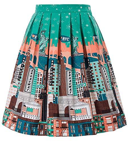 Vintage Stripe Pleated Midi Skirt Knee Length Size XL - Blazer Spandex Vintage