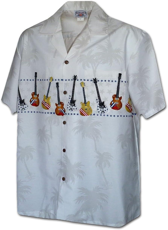 Pacific Legend Guitar Men's Camp Shrirt