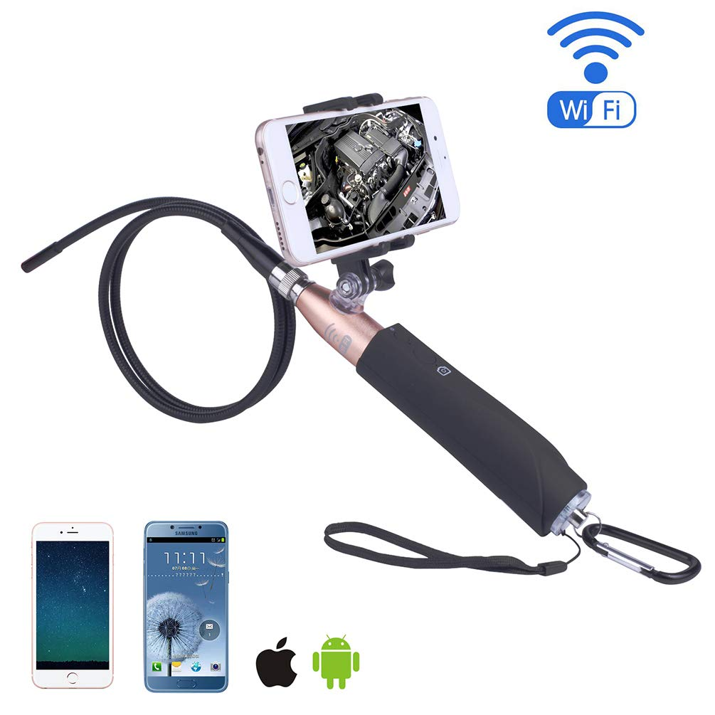 Endoscope for Phone, WiFi Endoscope with Selfie Stick for Android iOS Smartphone for General Auto Repair by VoguSaNa (Image #3)