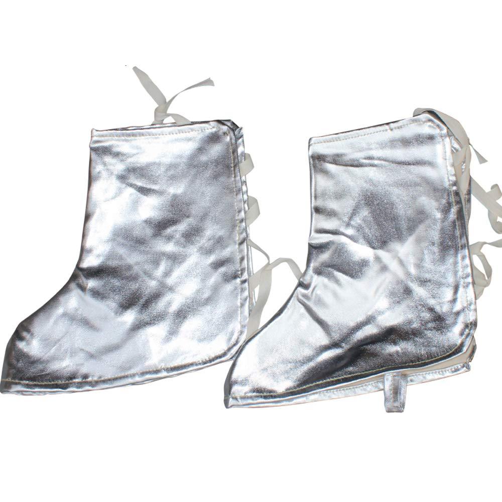 Doble Capa De Aluminio Hoja De Soldadura Pie Cubierta Soldador Calor-Resistencia Especial Pierna Protección Pie Manga Soldadura Alta Temperatura Y ...