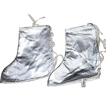 Doble Capa De Aluminio Hoja De Soldadura Pie Cubierta Soldador Calor-Resistencia Especial Pierna Protección