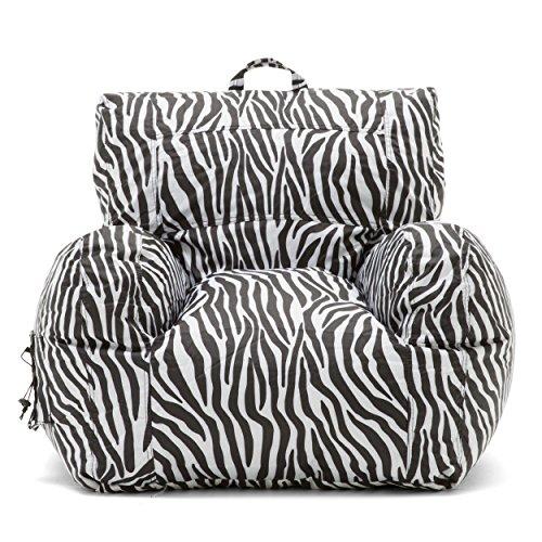Details About Big Joe Dorm Chair Zebra New