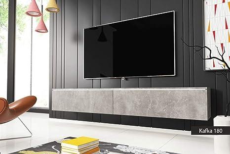 Porta Tv Moderni.Porta Tv Moderni Kafka 180 Cm 180x30x33 Tinta Cemento