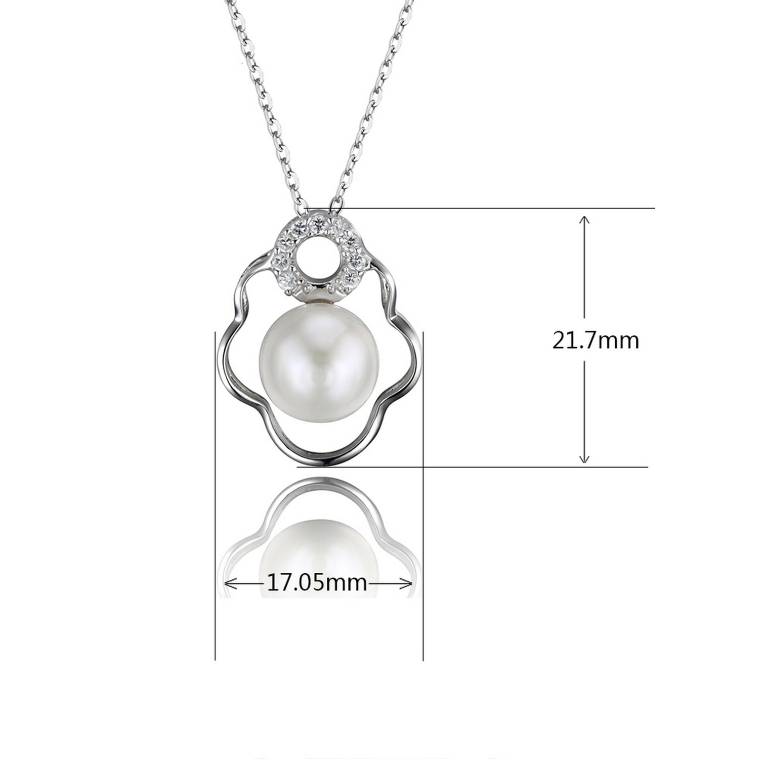 CS-DB Jewelry Silver Jewelry Pearl Chain Charm Pendants Necklaces