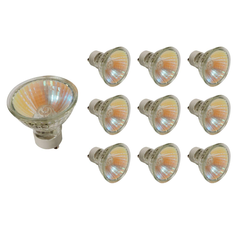 50% Clearance 10 Pack PGU10 Based 120V 50W Halogen Light Bulb 5100K