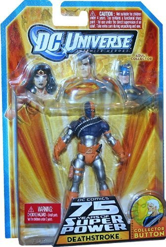 (DC Universe Infinite Heroes 75th Anniversary Deathstroke With Collector Button)
