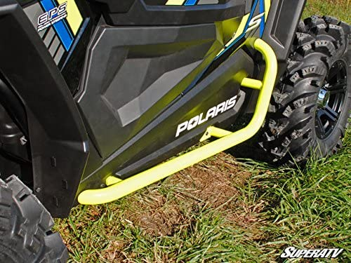 Allied Powersports Steel Side Nerf Bar for Polaris RZR 900 1000 XP Turbo 2015-19 Red
